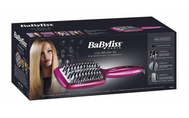 BaByliss: try out a fast straightening hair brush!